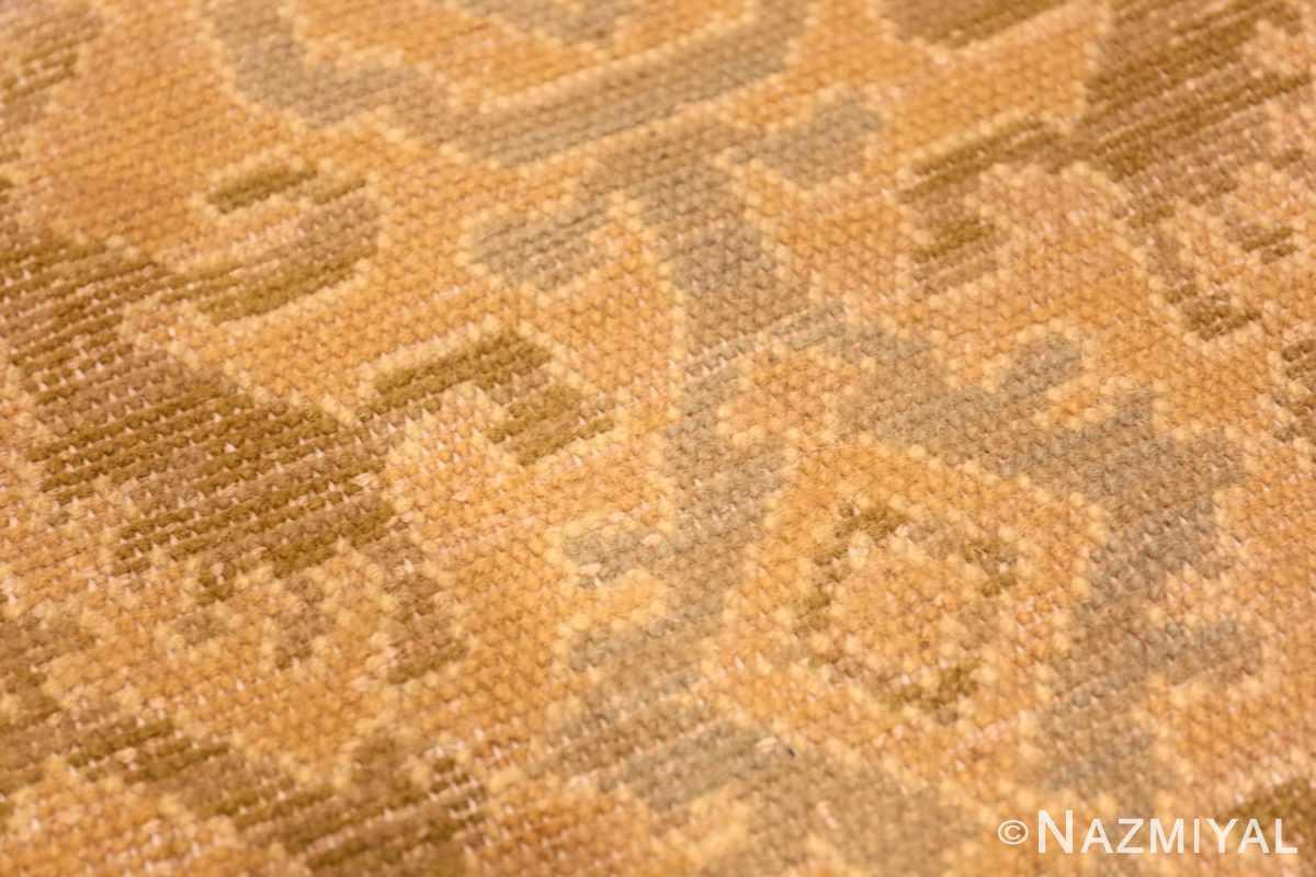 Weave detail Antique Spanish hallway runner rug 50472 by Nazmiyal