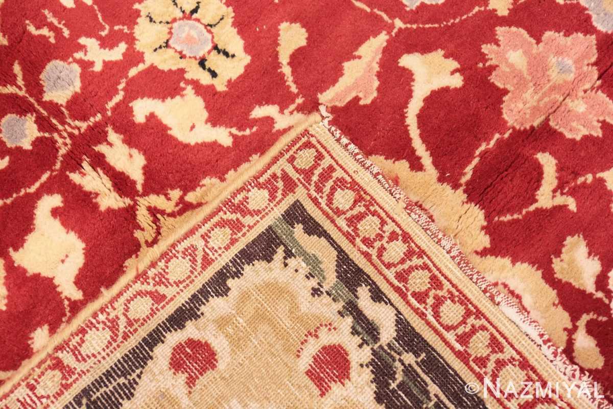 Weave Red background Vintage Indian Agra rug 48756 by Nazmiyal