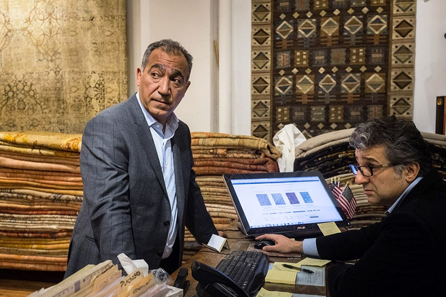 Picture of Jason Nazmiyal Courtesy of JEN TSE FOR NEWSWEEK Article about Iranian Rugs