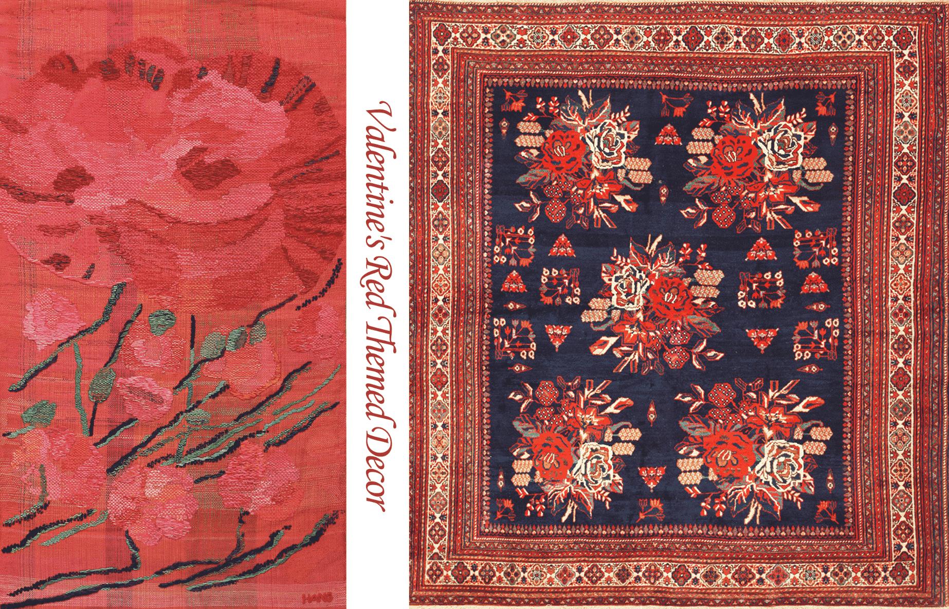 Hans Krondahl Tapestry Circa & SquareAntique Persian Afshar Rug