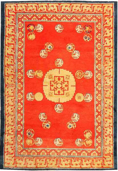 Antique Chinese Rug - Chinese New Year