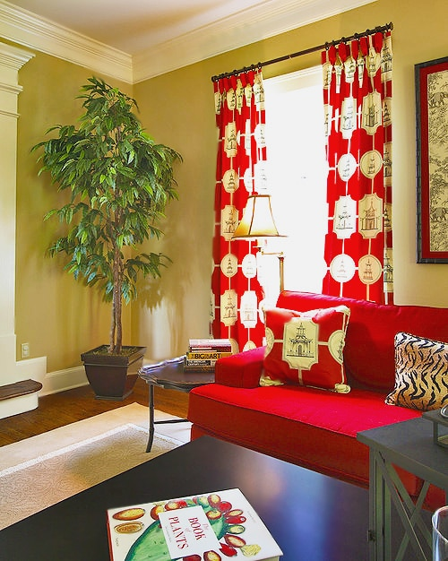 Asian Theme Living room Decor by Namiyal