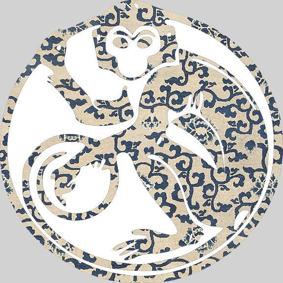 Chinese Monkey Rug by Nazmiyal