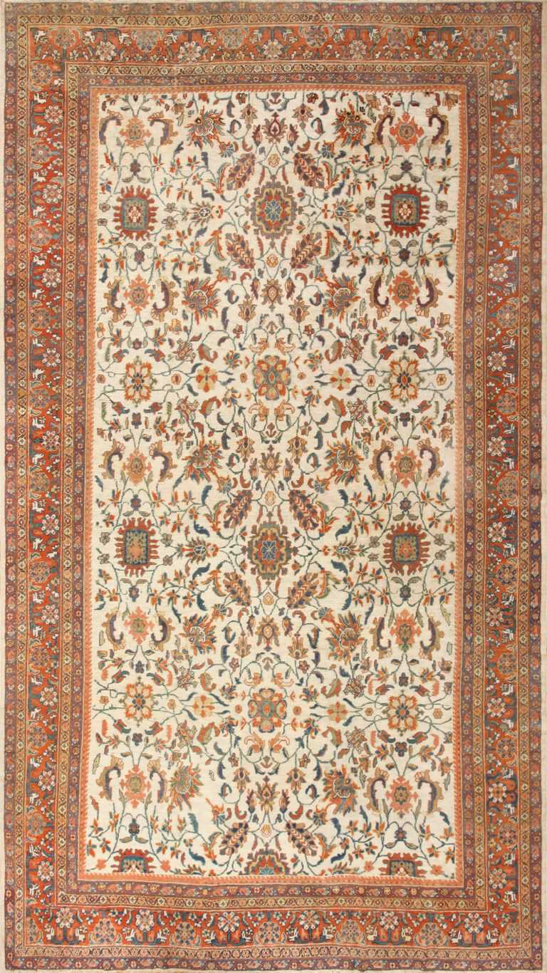 Large Antique Persian Sultanabad Rug 50571 Nazmiyal