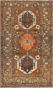 Small Antique Tribal Persian Heriz Rug 48338 Nazmiyal