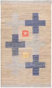 Small Modern Swedish Kilim Rug 48764 Detail/Large View