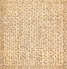 Square Antique Turkish Oushak Rug 47585 Nazmiyal