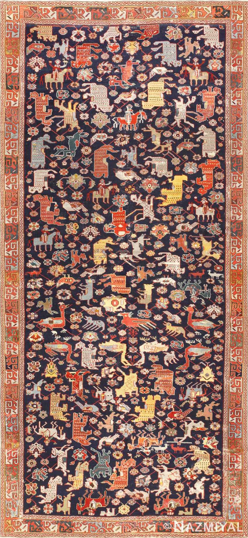 18th Century Caucasian Rug with Animal Design 48413 Nazmiyal