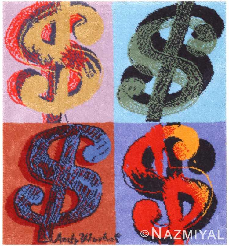 Andy Warhol Dollar Sign Vintage Rug 48422 Nazmiyal