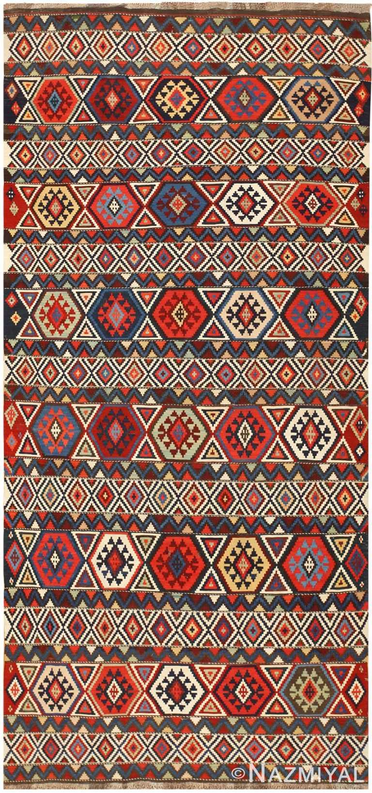 Antique Caucasian Kilim 48420 Detail/Large View