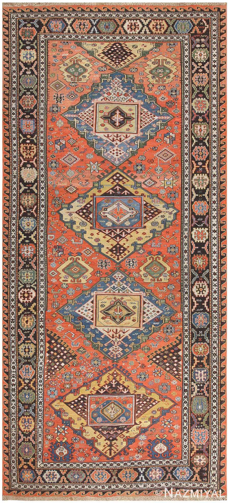 Antique Caucasian Soumak Rug 48470 Nazmiyal