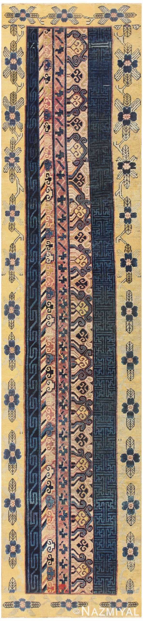 Antique Khotan Runner Rug from East Turkestan 48427 Nazmiyal