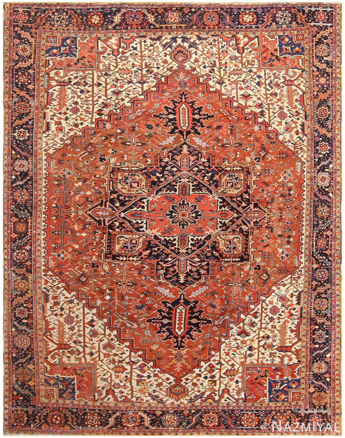 Antique Persian Heriz Rug 48318 Detail/Large View