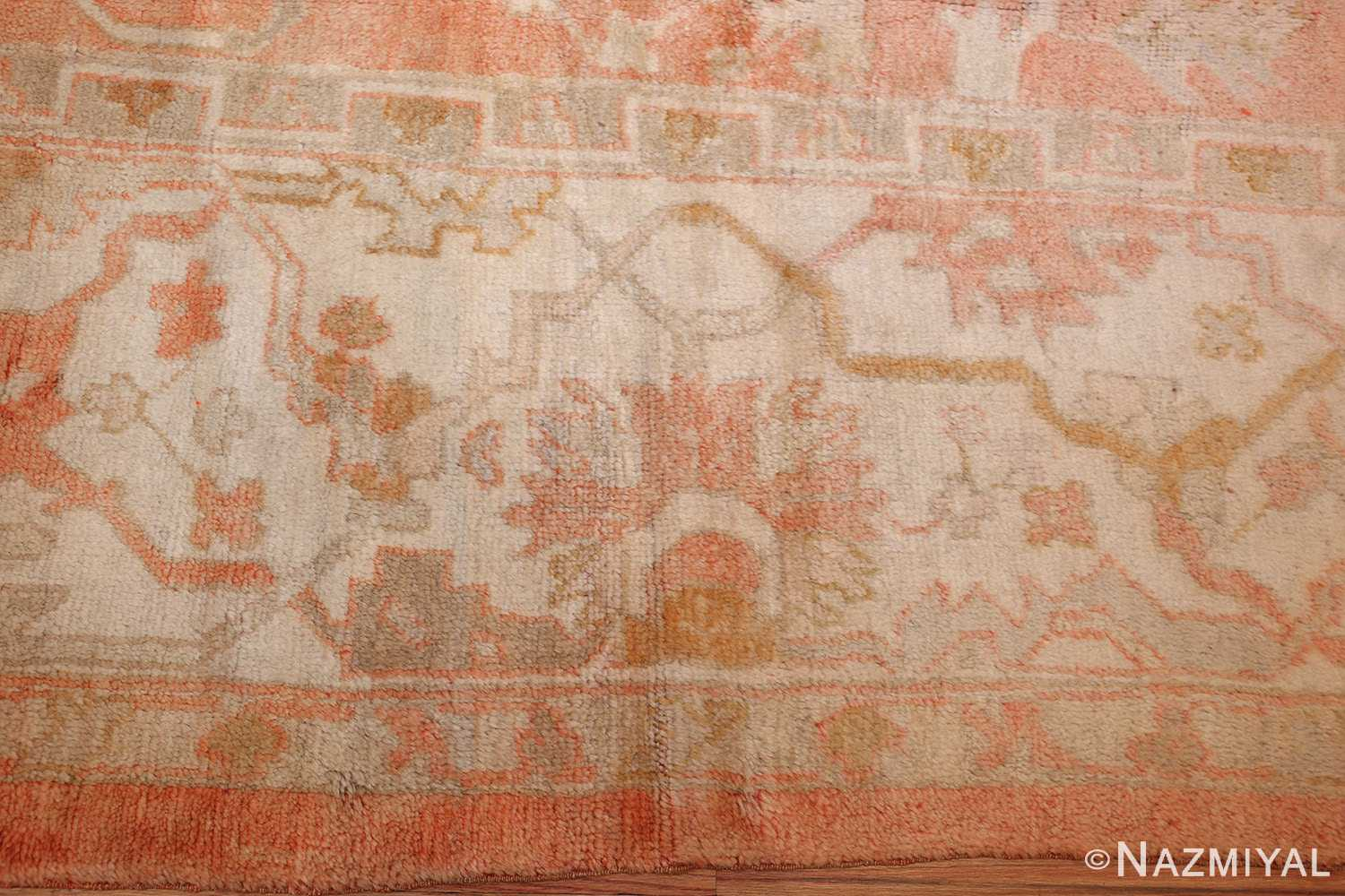 antique turkish oushak rug 50505 border Nazmiyal