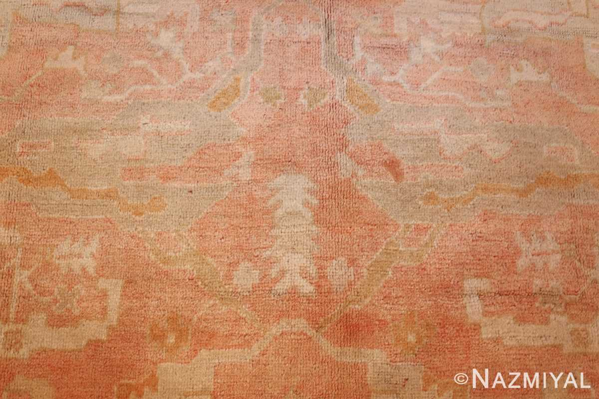 antique turkish oushak rug 50505 closeup Nazmiyal