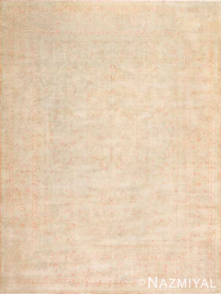 Light Antique Turkish Oushak Rug 50545 Nazmiyal Antique Rugs