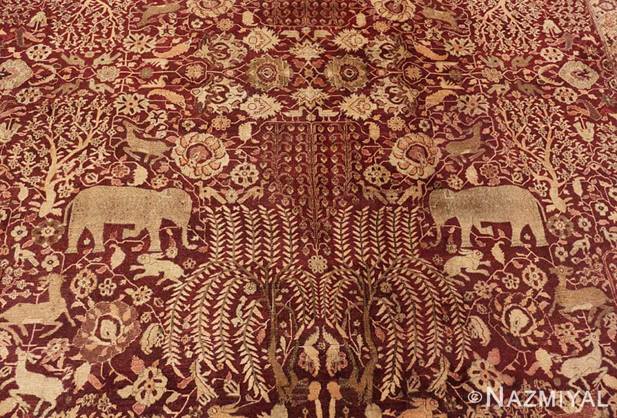 Background large red antique indian rug 44428 by Nazmiyal