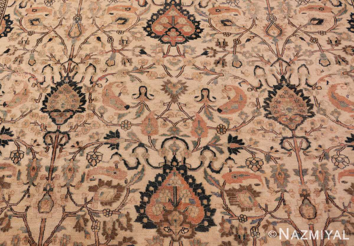 Background Large Antique Persian Khorassan rug 50585 by Nazmiyal