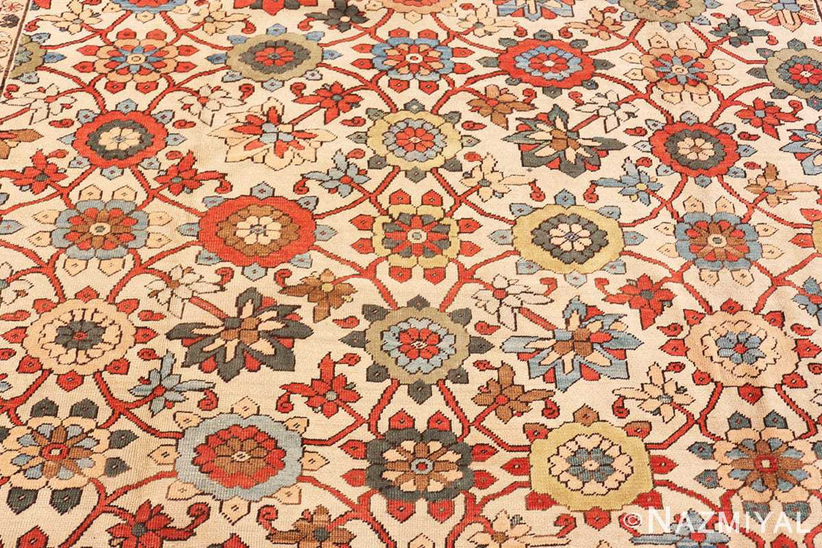 Background Large colorful Antique Persian Serapi rug 50593 by Nazmiyal
