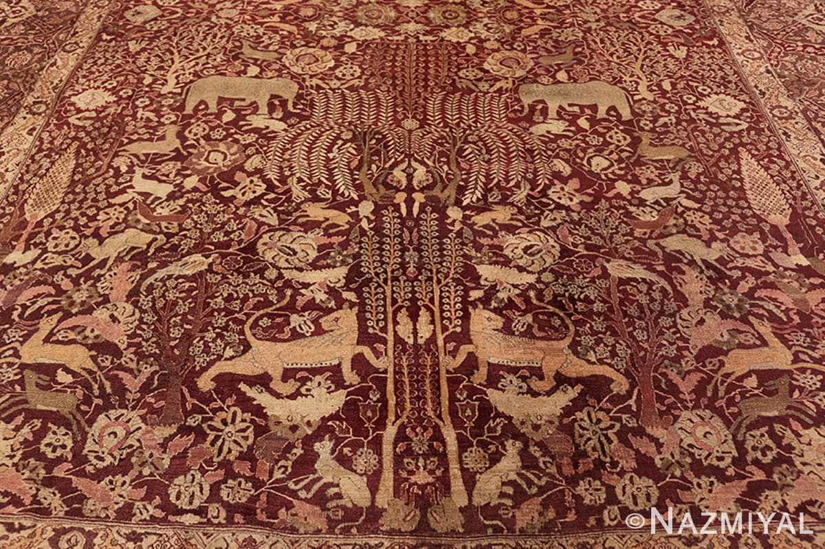 Background 2 large red antique indian rug 44428 by Nazmiyal