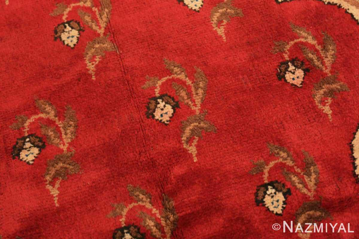 Background Red medallion Antique Irish rug 50481 by Nazmiyal Antique Rugs in NYC