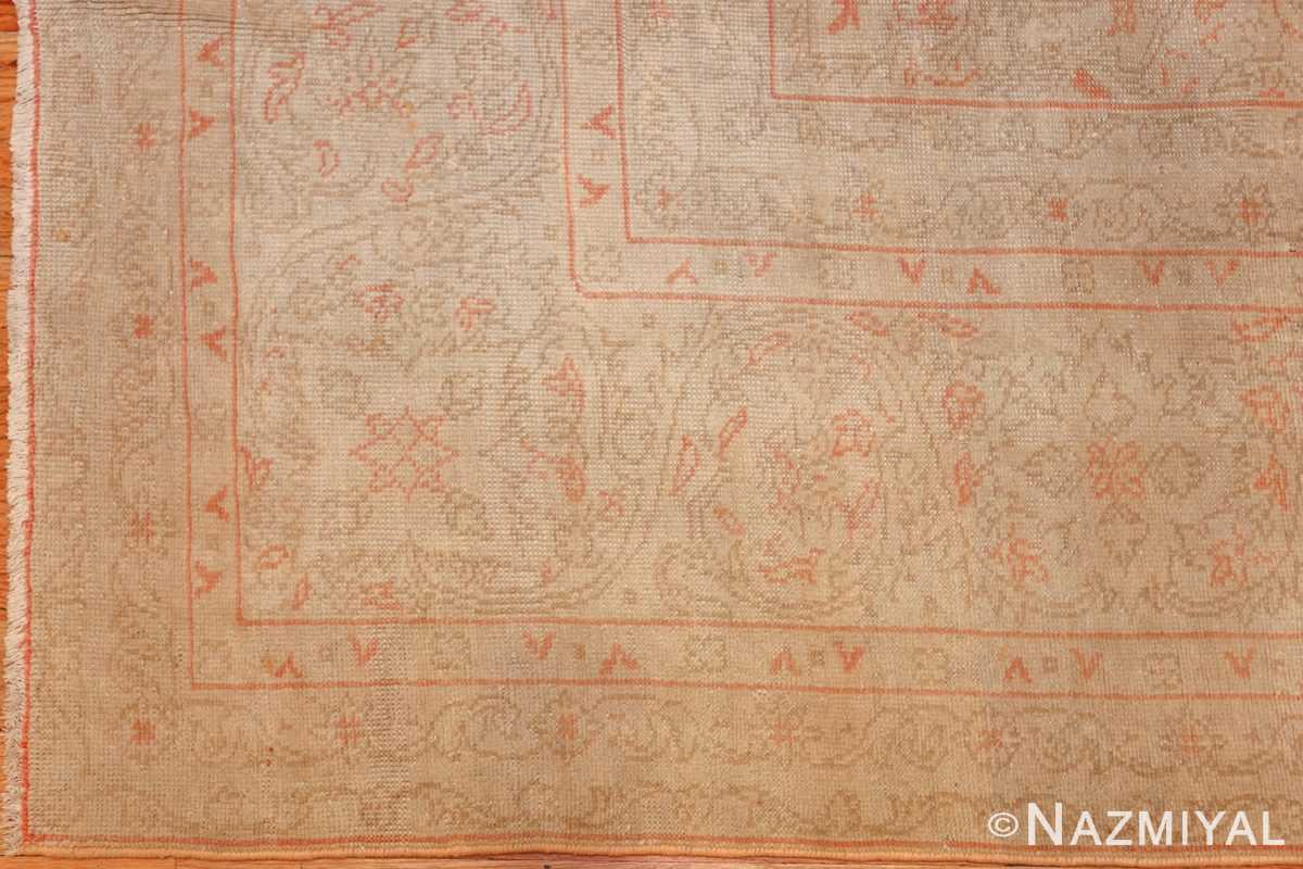 beautifu decorative antique turkish oushak rug 50545 design Nazmiyal