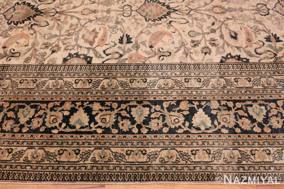 Border Large Antique Persian Khorassan rug 50585 by Nazmiyal