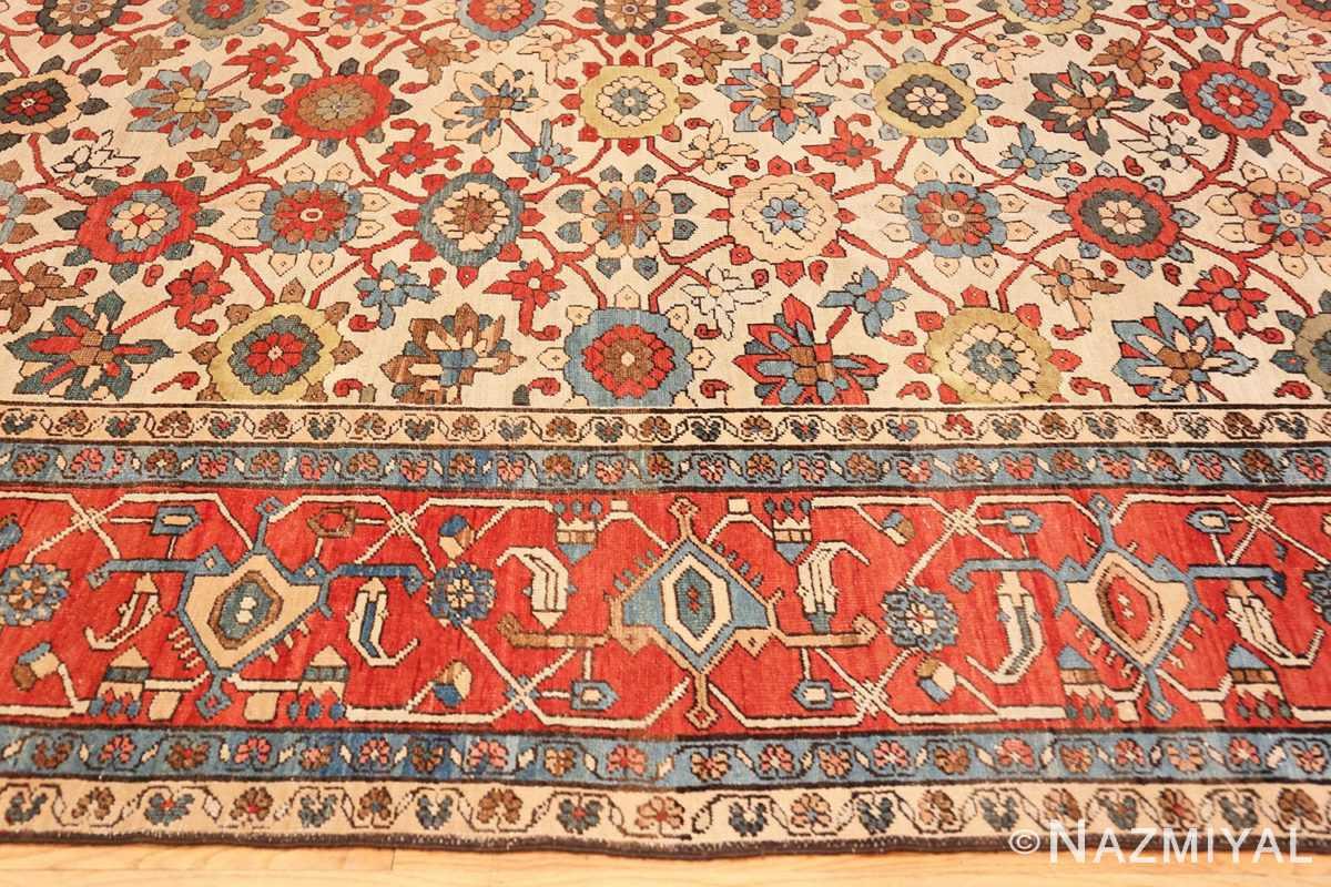 Border Large colorful Antique Persian Serapi rug 50593 by Nazmiyal