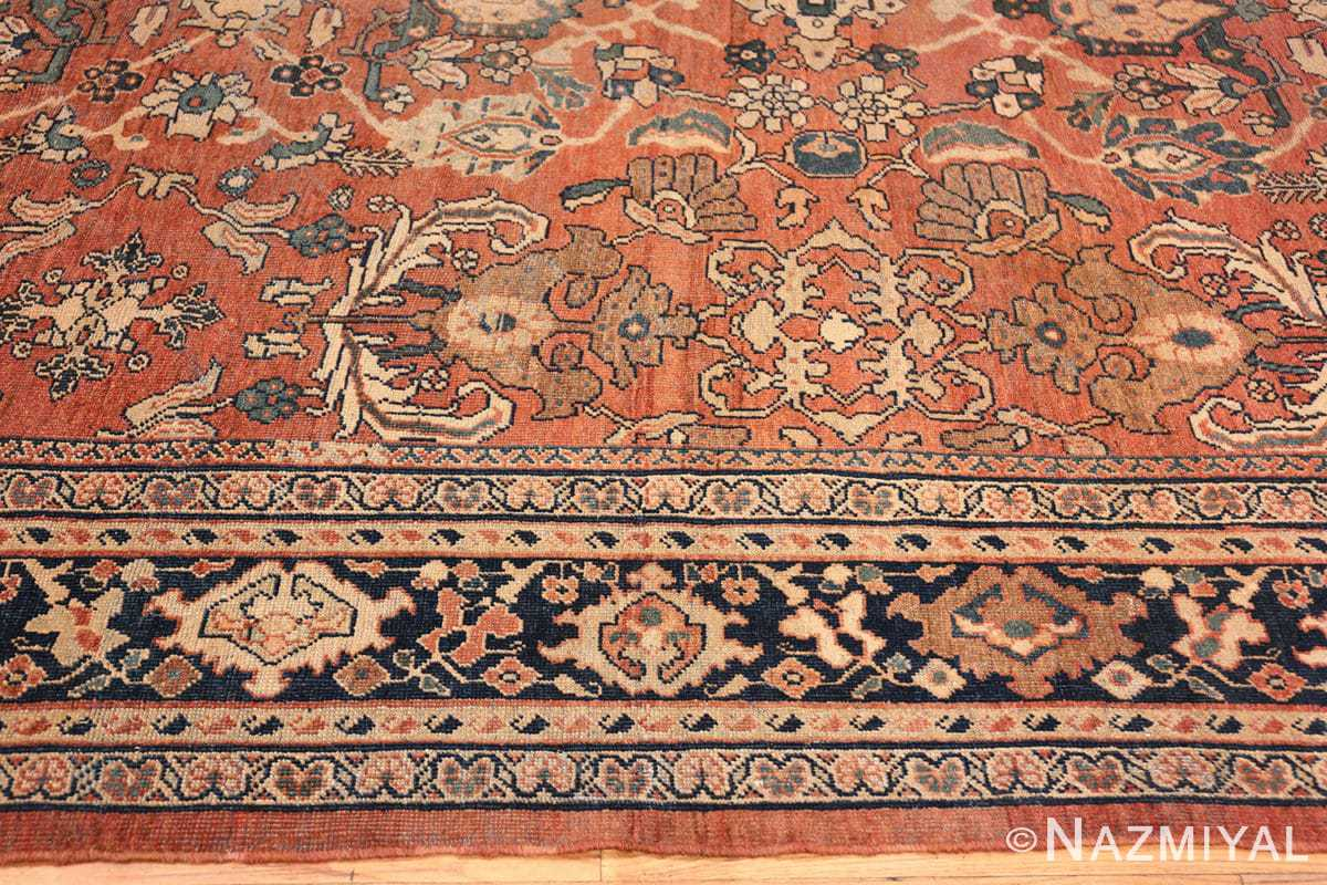 Border Large Oversized Antique Persian Sultanabad rug 50377 by Nazmiyal