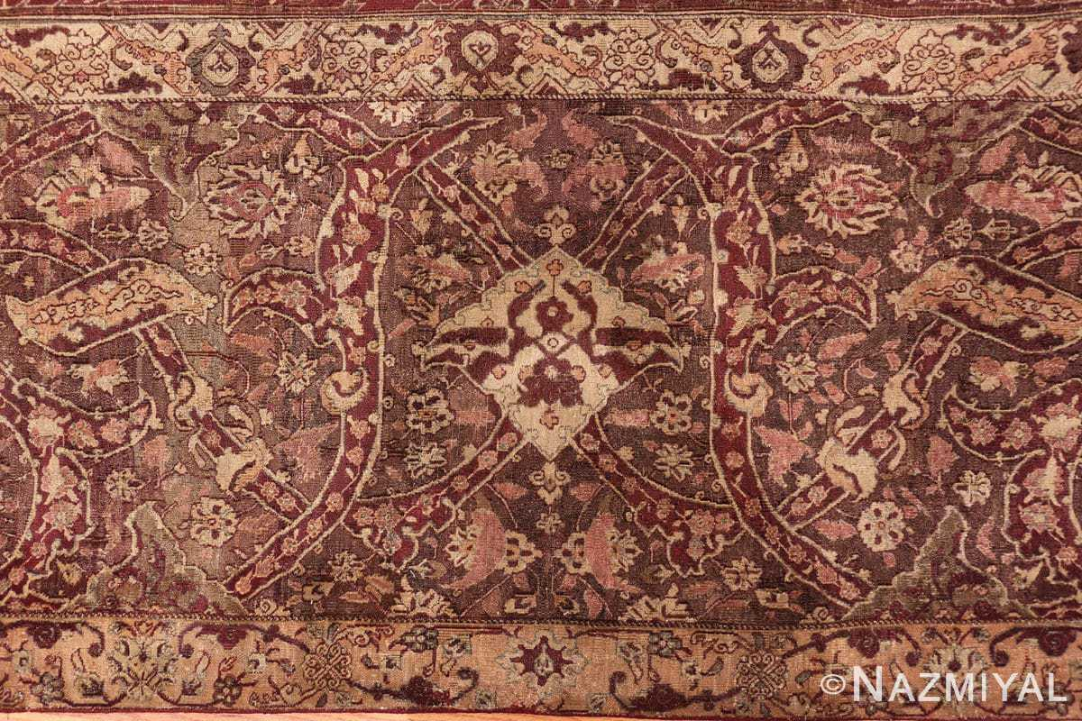 Border large red antique Indian rug 44428 by Nazmiyal
