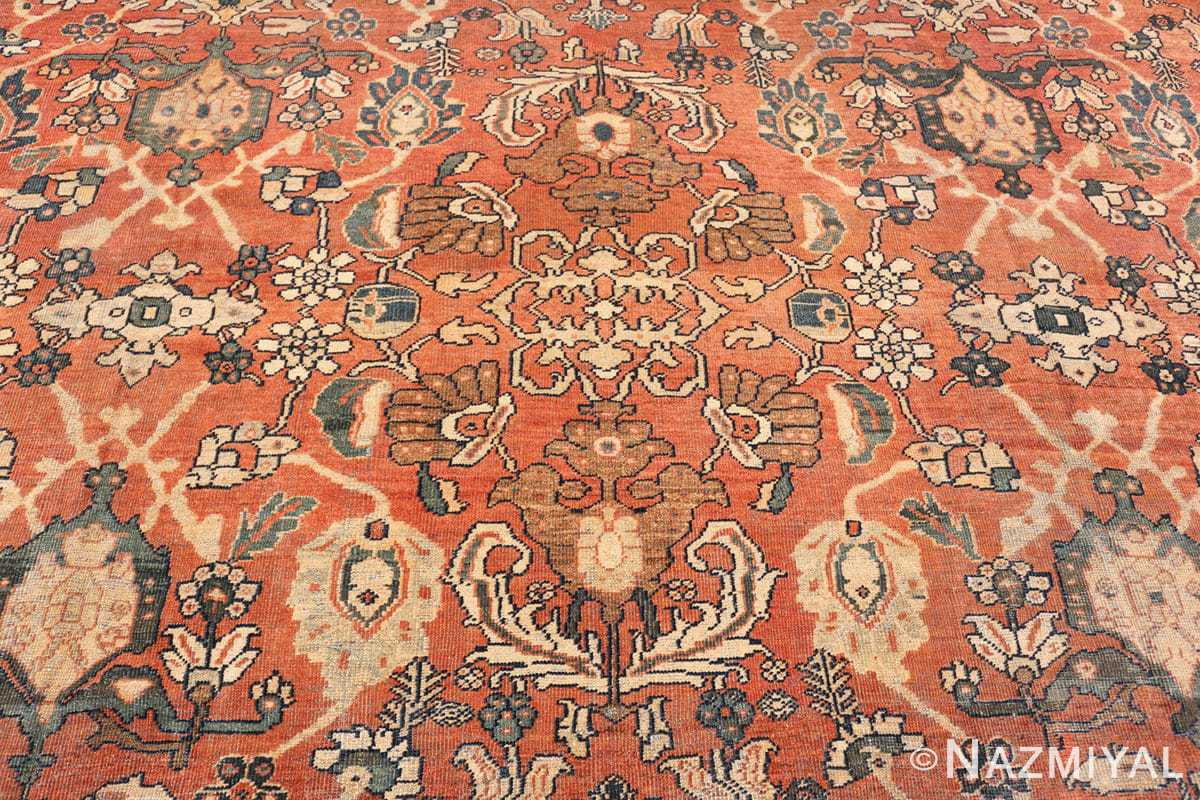 Center detail Large Oversized Antique Persian Sultanabad rug 50377 by Nazmiyal