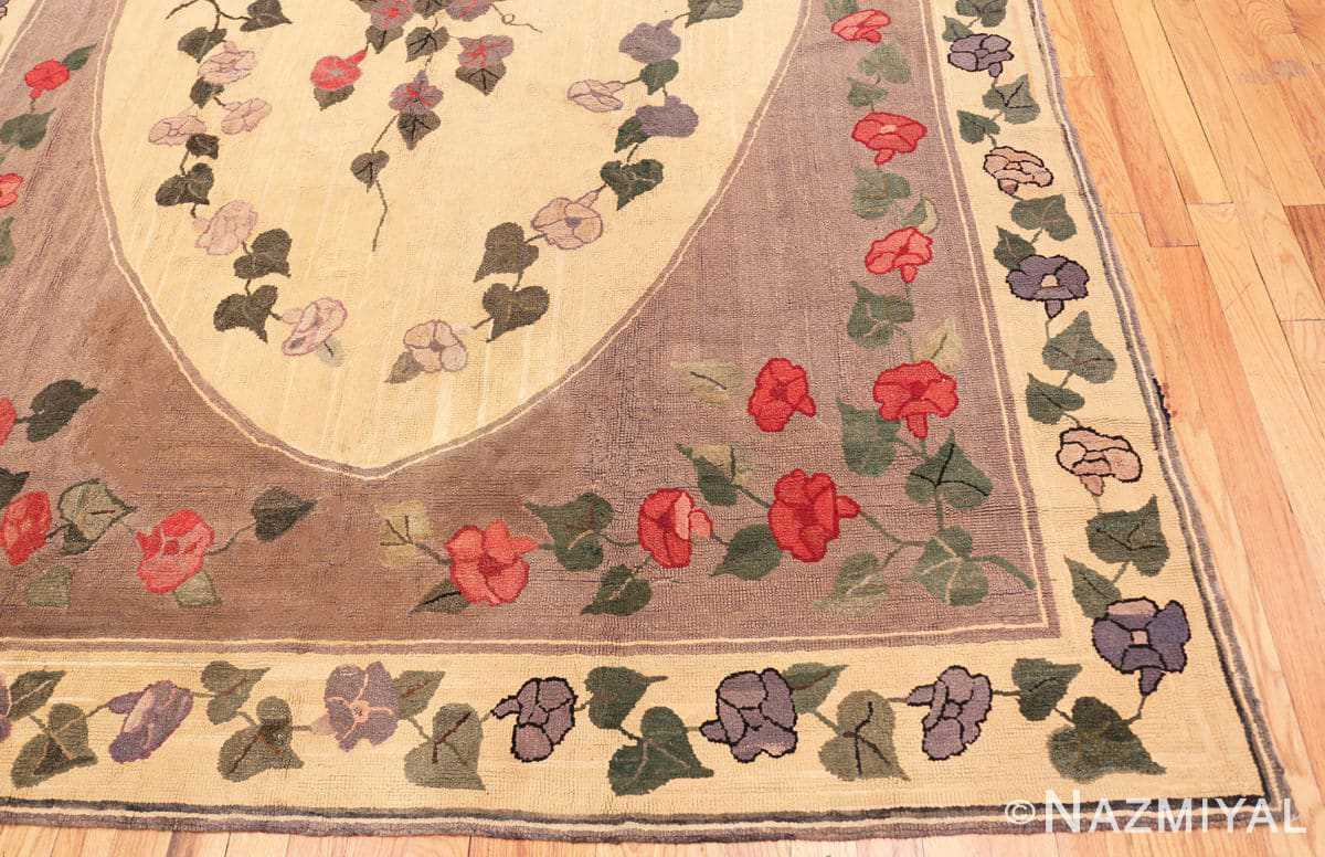 Corner Botanic Antique American rug 50557 by Nazmiyal