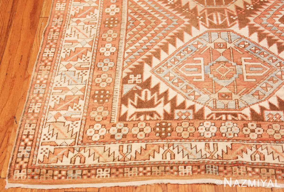 Corner Tribal Vintage Caucasian Shirvan rug 50464 by Nazmiyal