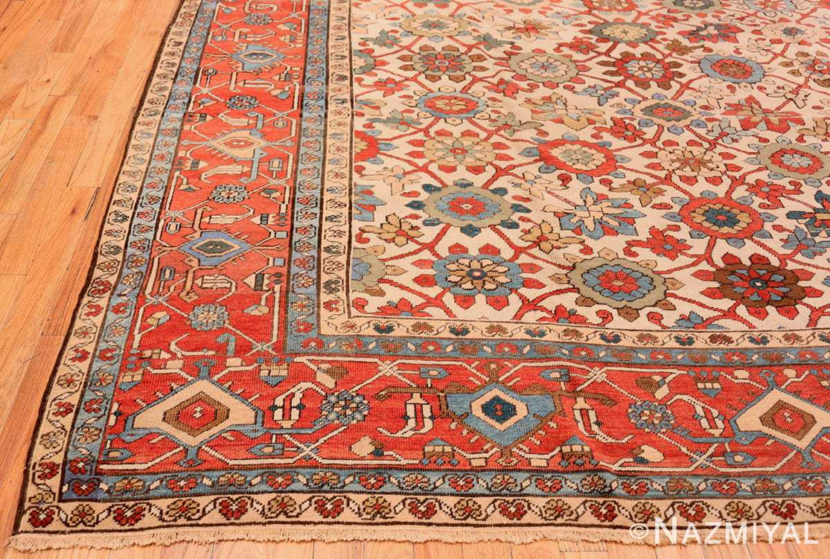 Corner Large colorful Antique Persian Serapi rug 50593 by Nazmiyal