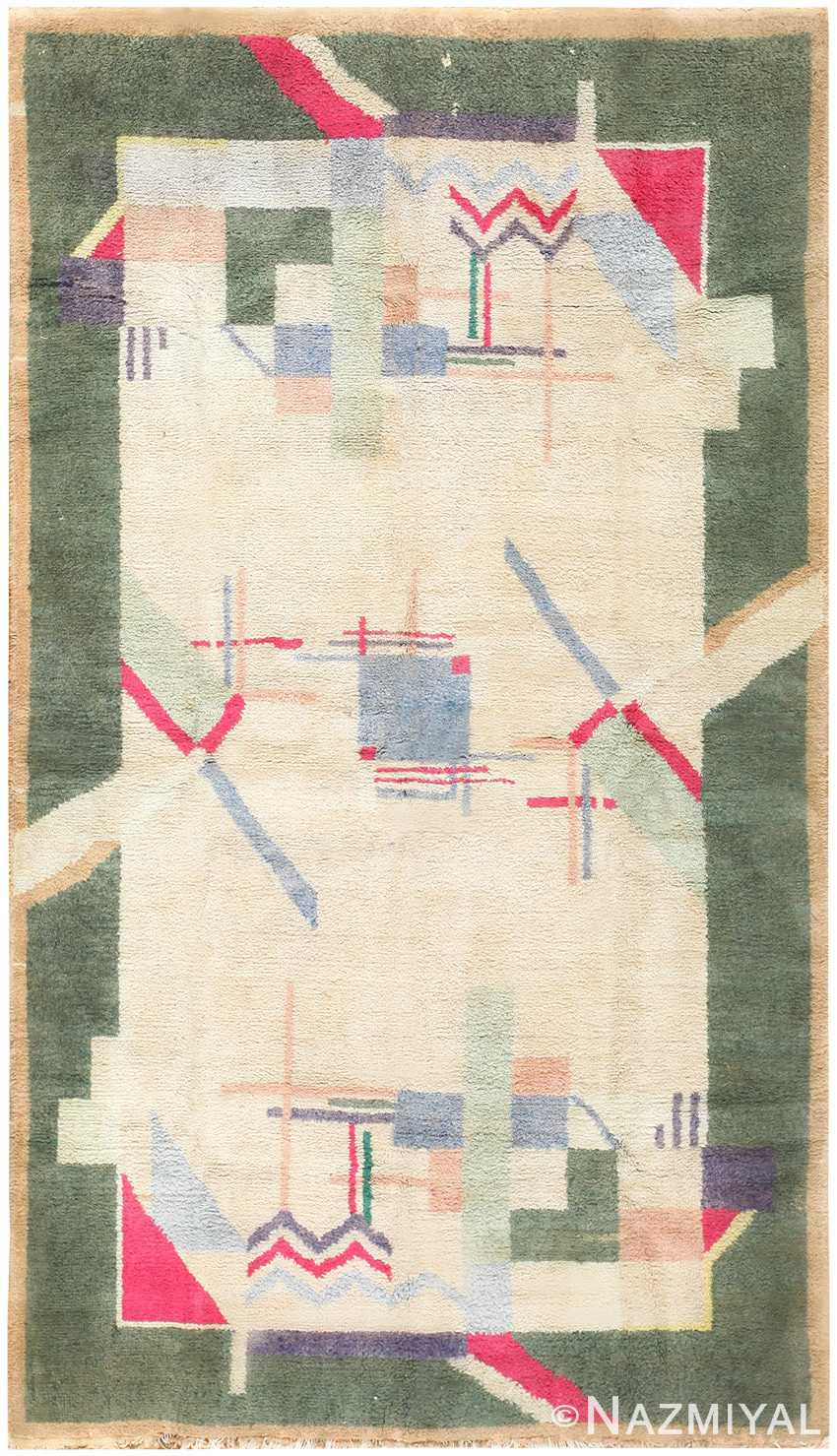 Cotton Indian Art Deco Rug 48426 Detail/Large View