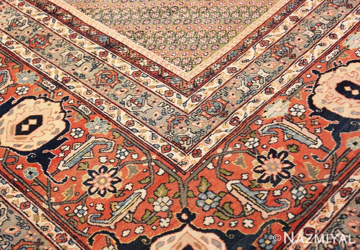 Detail Large Antique Ivory Haji Jalili Persian Tavriz rug 48729 by Nazmiyal