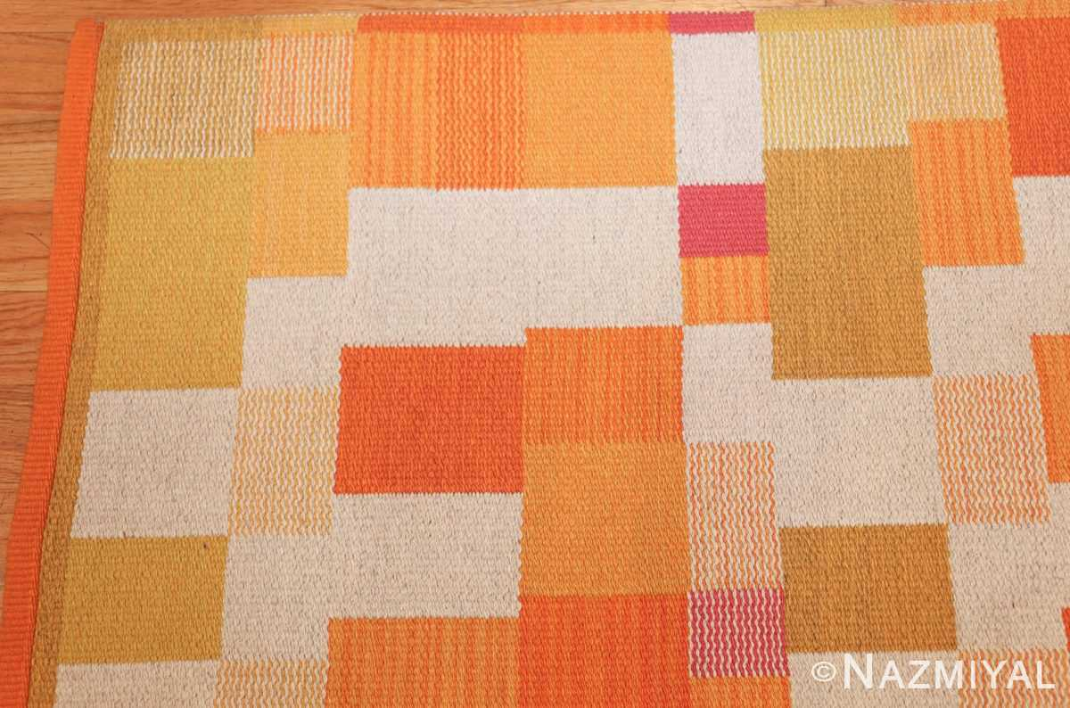 double sided vintage scandinavian swedish rug 48763 corner Nazmiyal
