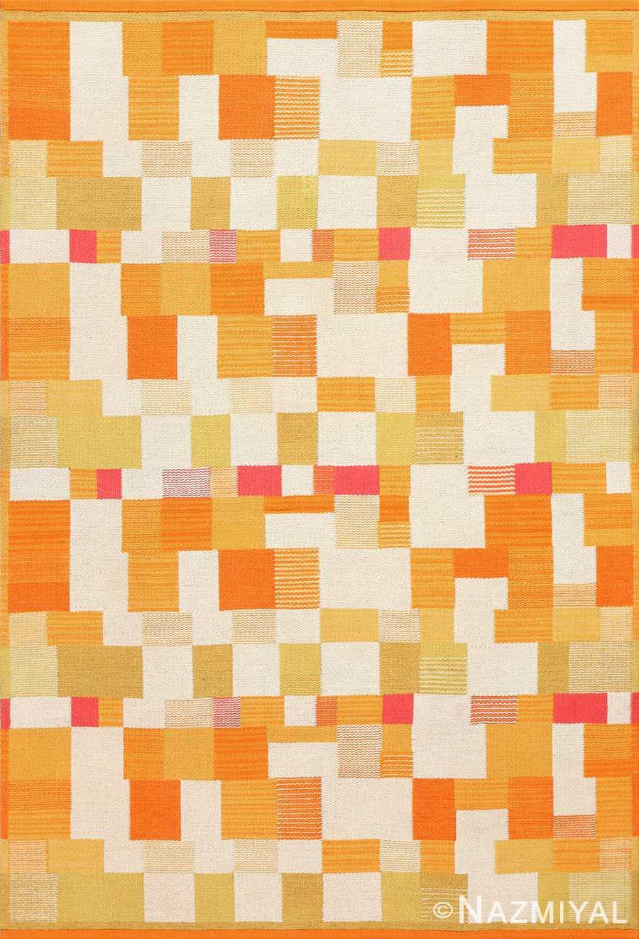 double sided vintage scandinavian swedish rug 48763 Nazmiyal