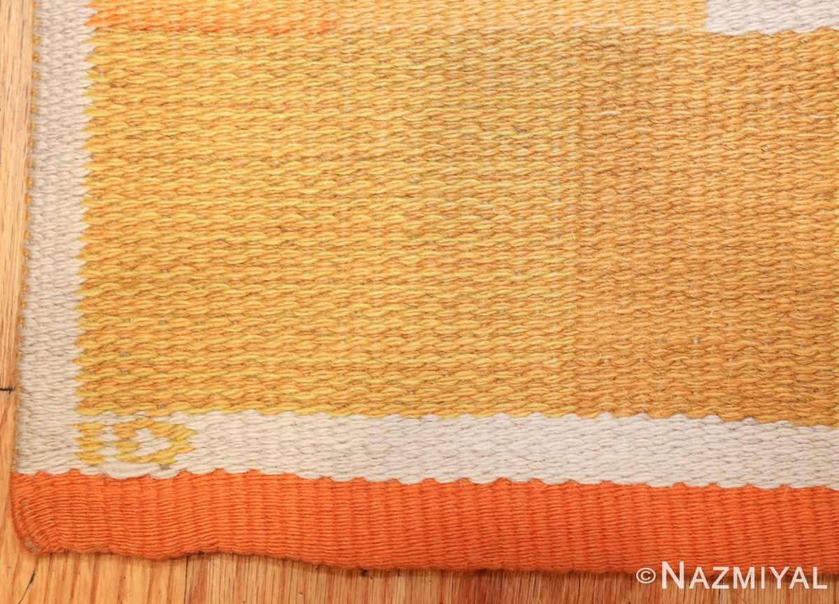 double sided vintage scandinavian swedish rug 48763 signature Nazmiyal