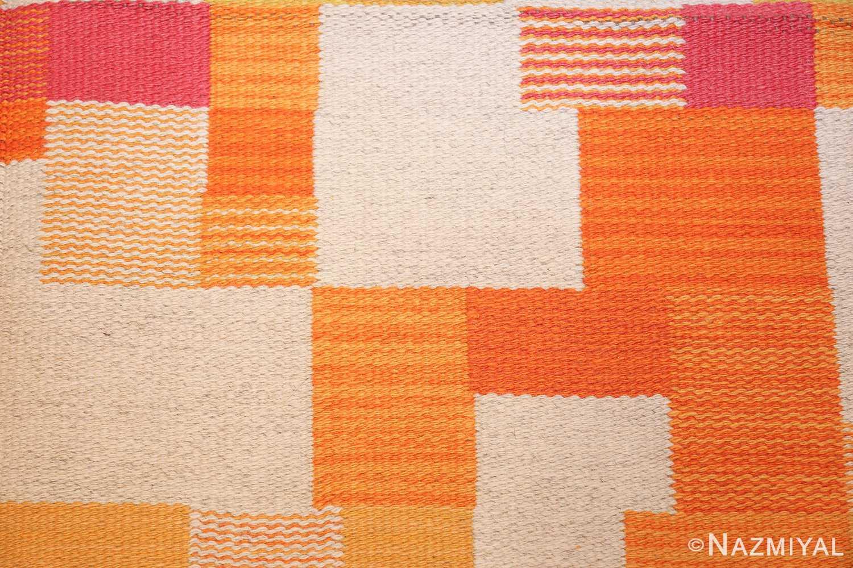 double sided vintage scandinavian swedish rug 48763 squares Nazmiyal
