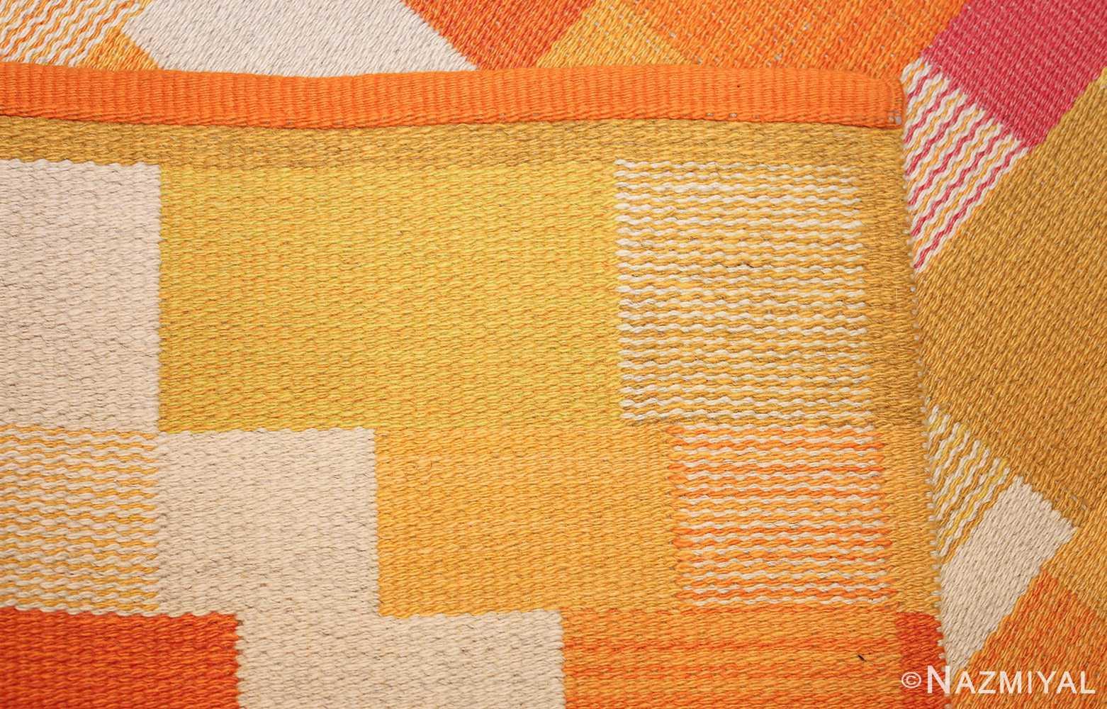 double sided vintage scandinavian swedish rug 48763 weave Nazmiyal