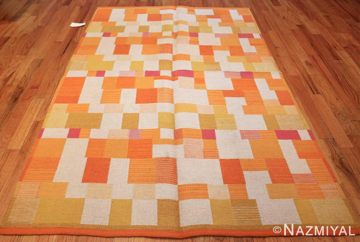 double sided vintage scandinavian swedish rug 48763 white whole Nazmiyal