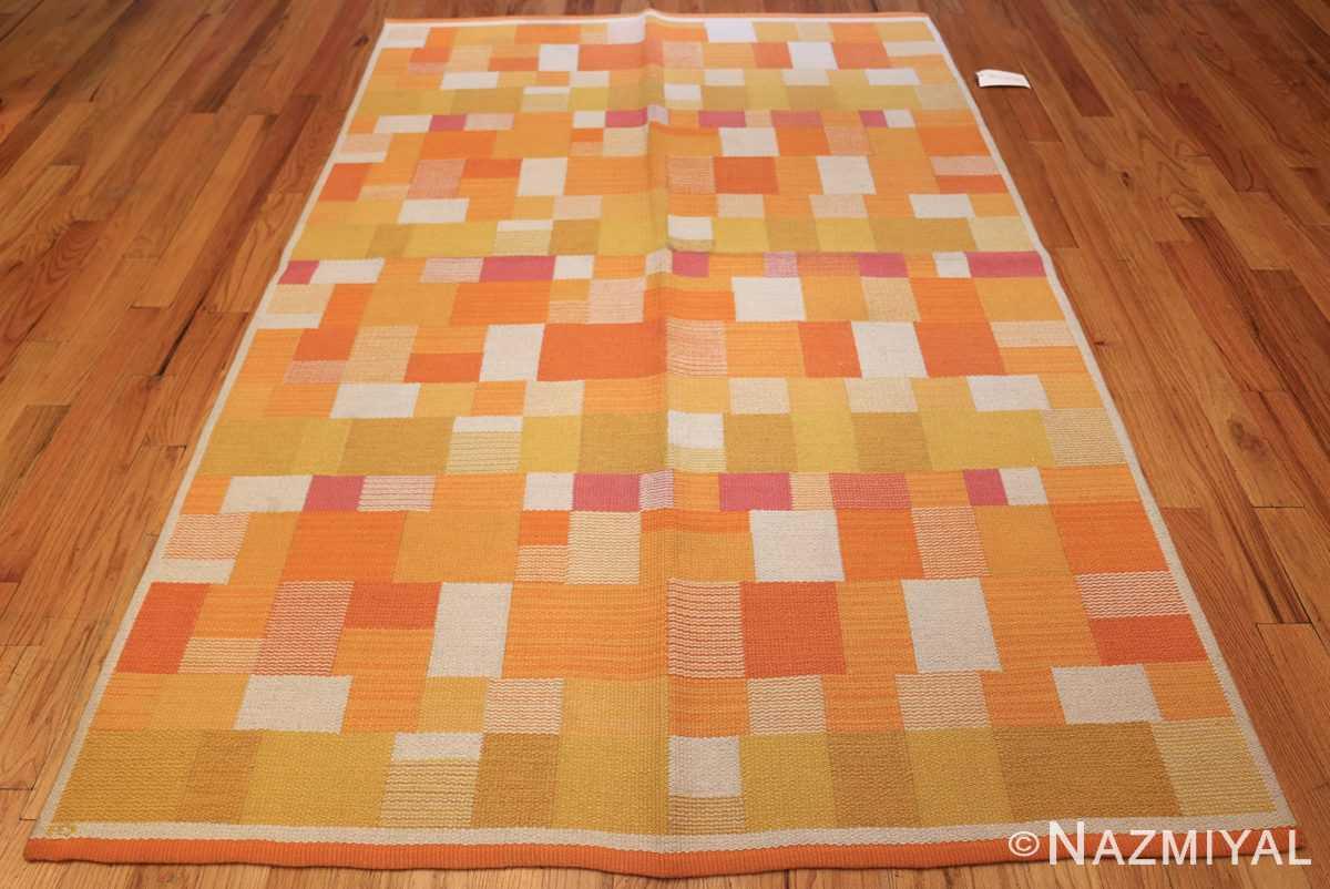 double sided vintage scandinavian swedish rug 48763 yellow whole Nazmiyal