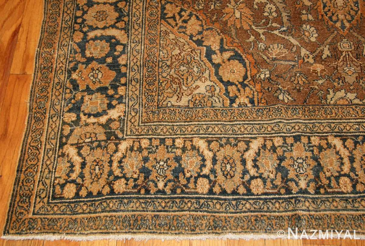 elegant antique persian bibikabad rug 50156 corner Nazmiyal