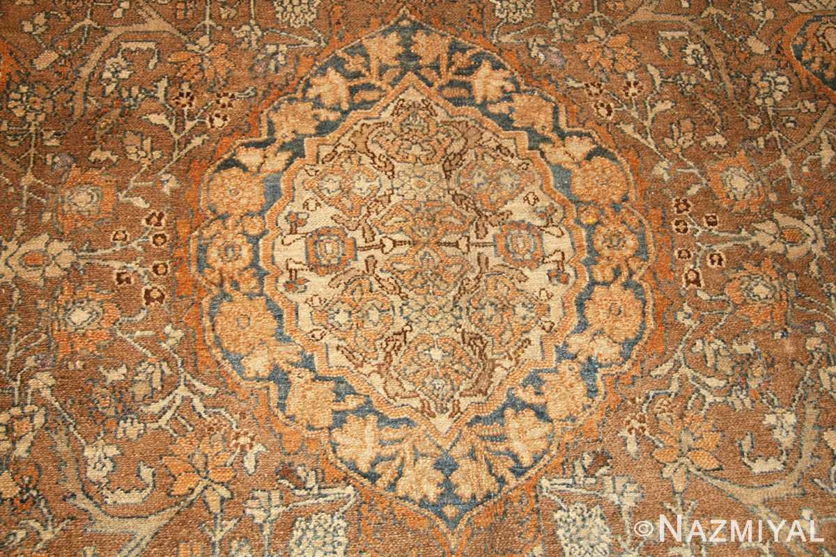 elegant antique persian bibikabad rug 50156 medallion Nazmiyal