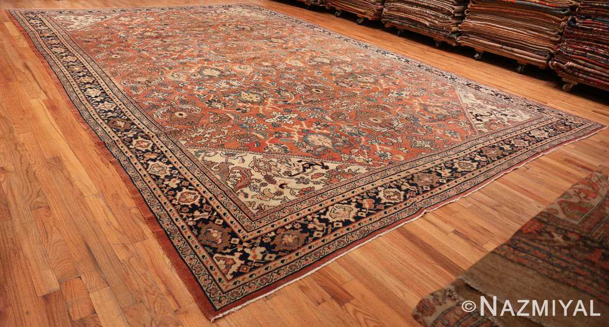 Full Large oversized Antique Persian Sultanabad rug 50377 by Nazmiyal