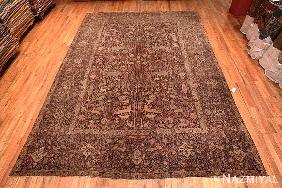 Full view large red antique Indian rug 44428 by Nazmiyal