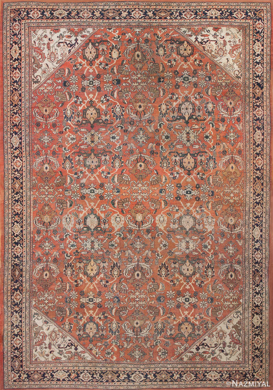 Large Antique Persian Sultanabad Rug 50377 Nazmiyal