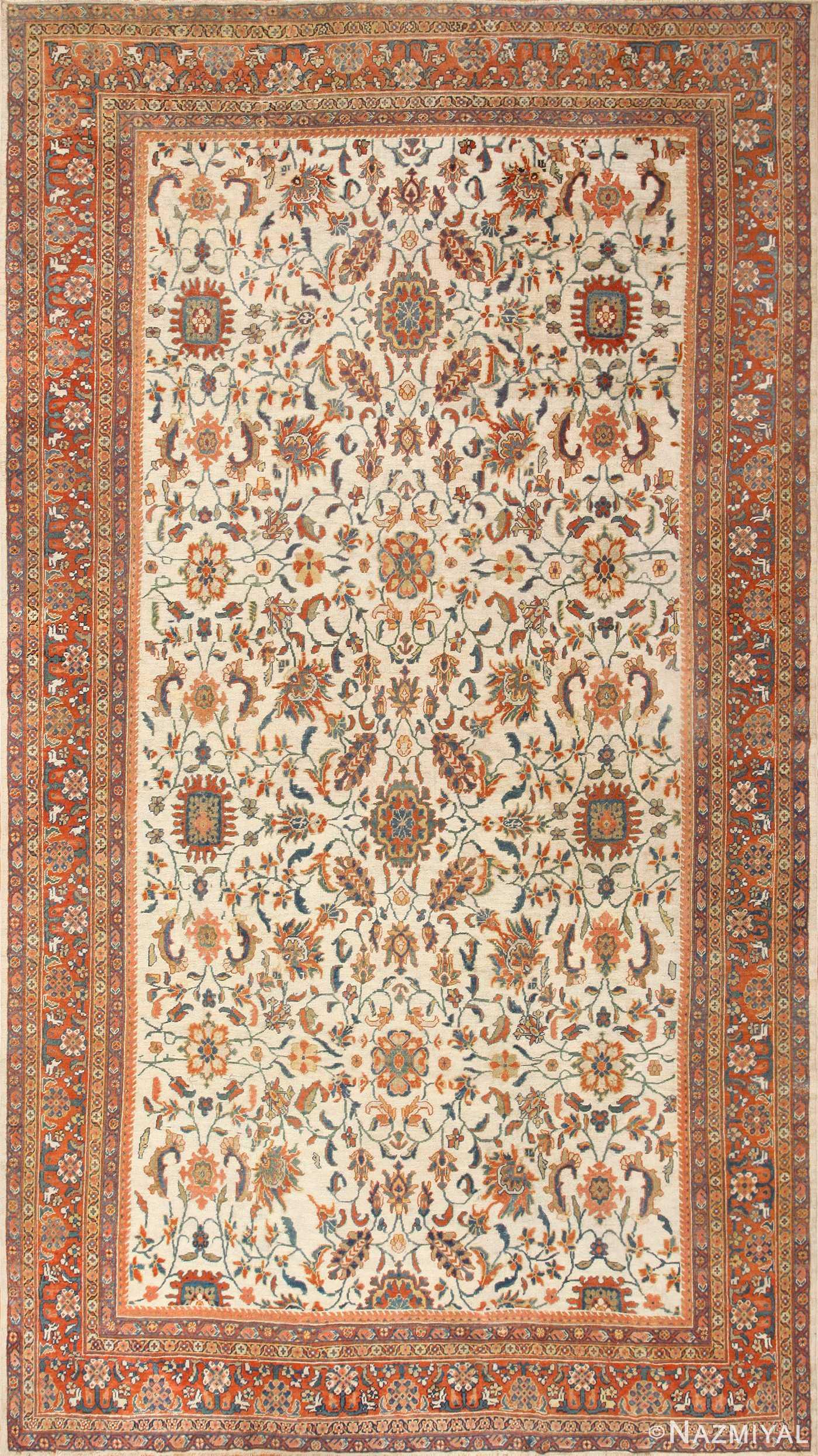 Large Antique Persian Sultanabad Rug 50571 Nazmiyal