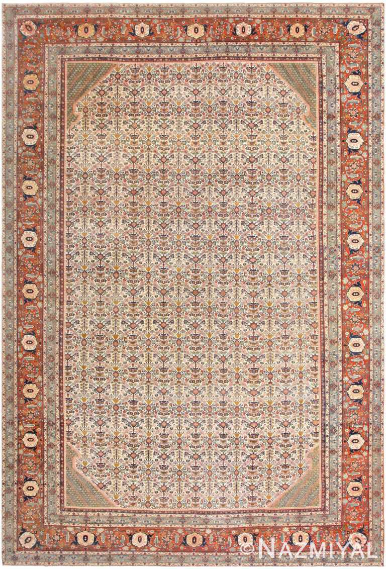 Large Antique Persian Tabriz Rug 48729